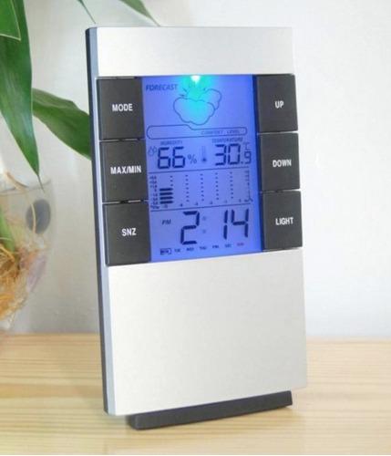 termómetro higrómetro digital, temperatura-humedad,reloj lcd