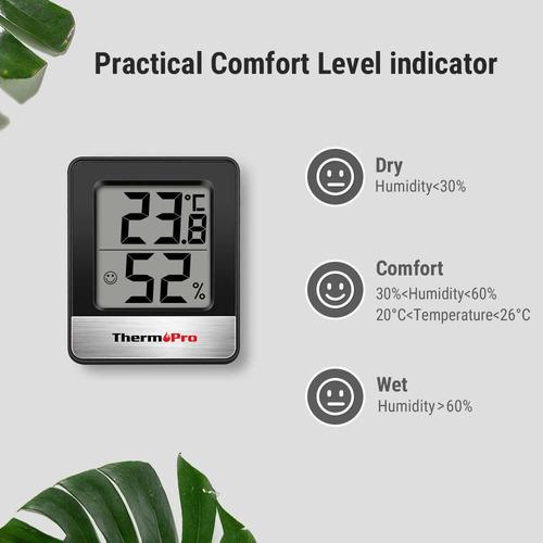 termómetro higrómetro digital thermopro tp-49 cultivo indoor