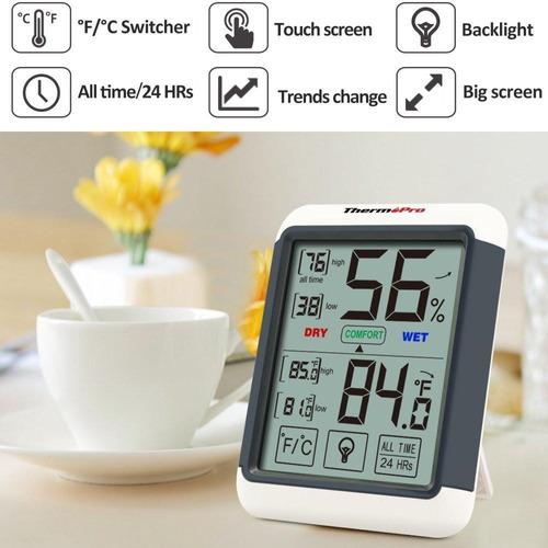termómetro higrómetro digital thermopro tp-55 mide humedad