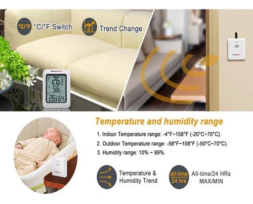 termómetro higrómetro dual interior exterior thermopro tp-60
