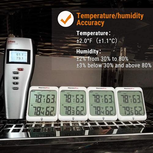 termómetro higrómetro dual interior exterior thermopro tp-63