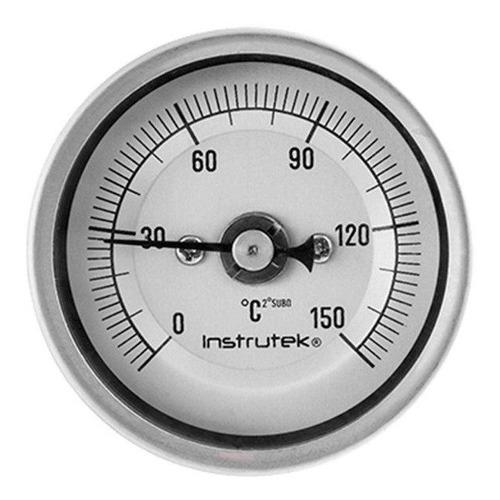 termómetro horno 2 plg 0 a 150°c, vástago 4 , rosca 1/4