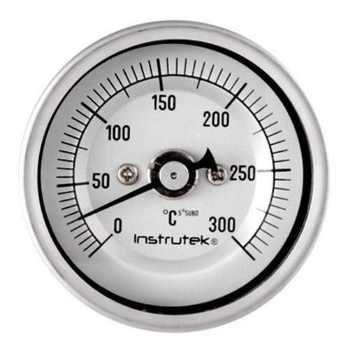 termómetro horno 2 plg 0 a 300°c, vástago 6 , rosca 1/4