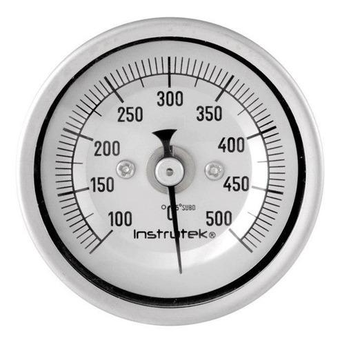 termómetro horno 2 plg 100 a 500°c, vástago 9 , rosca 1/4