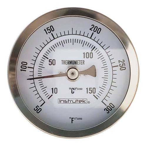 termómetro horno 3 plg 10 a 150°c, vástago 6 plg, rosca 1/2