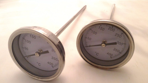 termómetro industrial horno de barro, cocina, vástago 18cm!
