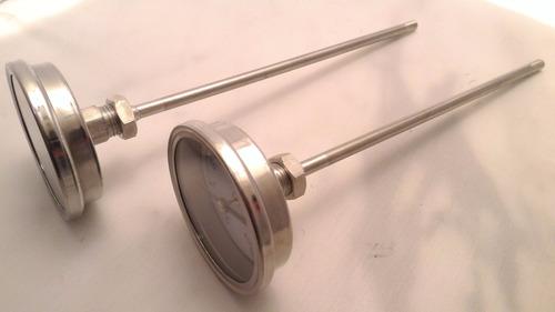termómetro industrial horno de barro, cocina, vástago largo!