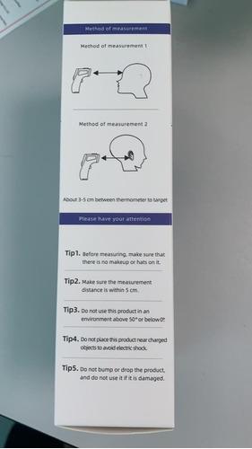 termómetro inflarojo digital