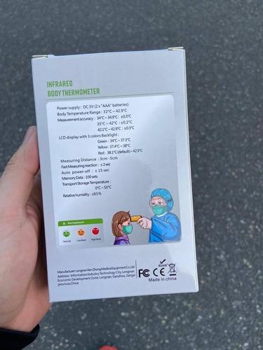 termómetro infrarojo digital sin contacto