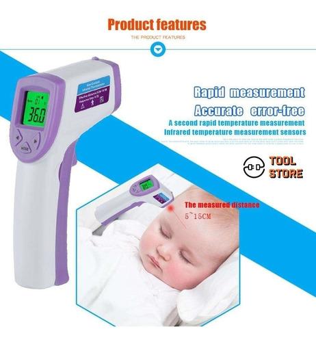 termómetro infrarrojo corporal digital fiebre bebe - adulto