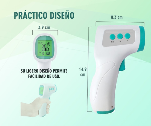 termometro infrarrojo de frente temperatura sin contacto
