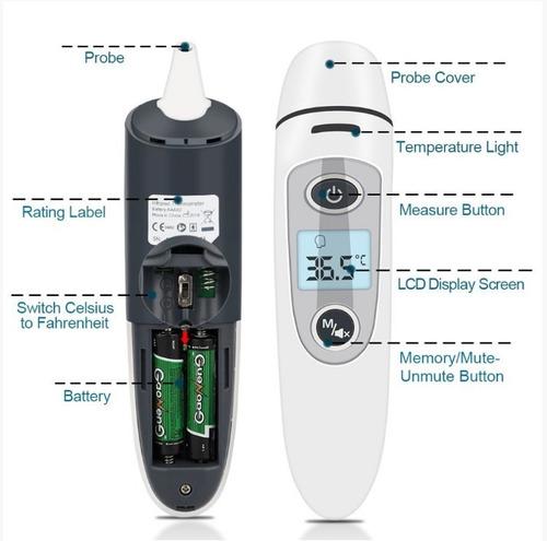 termómetro infrarrojo digital clinico frente oido bebe papas