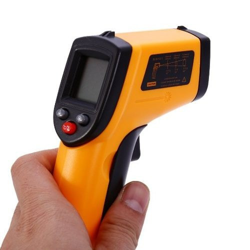 termómetro infrarrojo digital industrial señalador láser