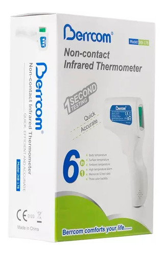 termómetro infrarrojo digital láser a distancia berrcom 178