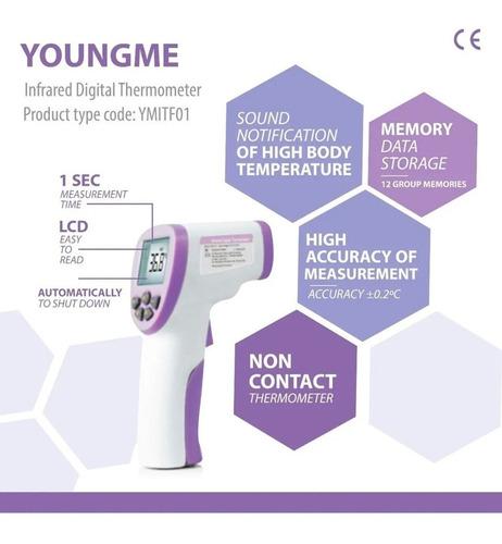 termómetro infrarrojo digital láser a distancia youngme tf01