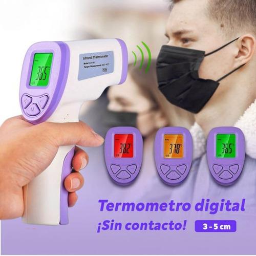 termómetro infrarrojo digital laser distancia fiebre humanos
