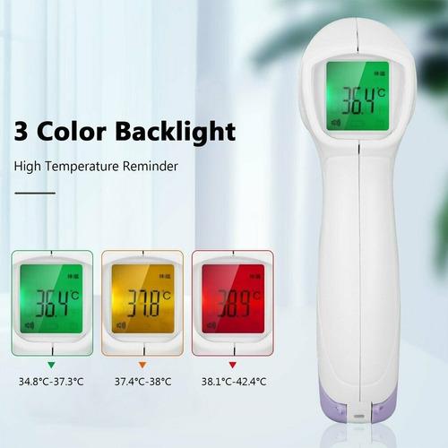termómetro infrarrojo digital lcd temperatura sin contacto