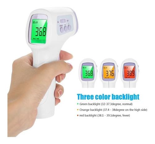 termómetro infrarrojo frente sin contacto
