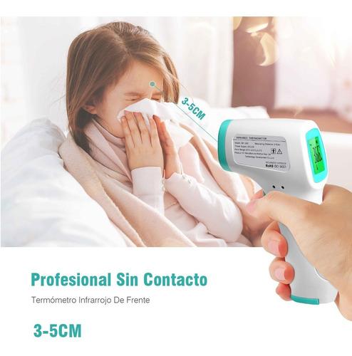 termómetro infrarrojo frente sin contacto digital