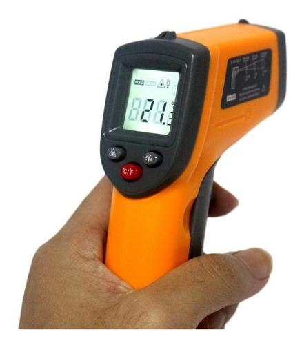 termómetro infrarrojo laser digital temperatura pirometro