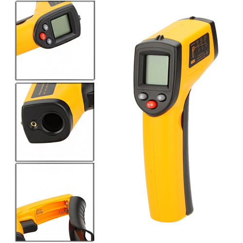 termómetro infrarrojo láser medidor de temperatura pistola