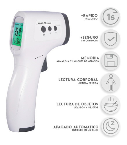 termometro infrarrojo pistola laser medidor temperatura