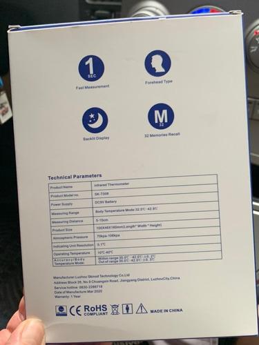 termómetro infrarrojo profesional laser  certificado  fda