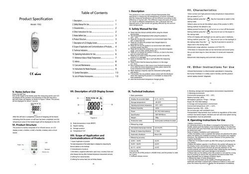 termómetro infrarrojo sin contacto frente certificado