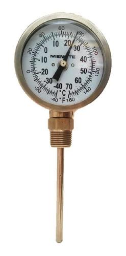 termómetro inoxidable  cv 1/2  caratula 3  x 4  -40/70 c