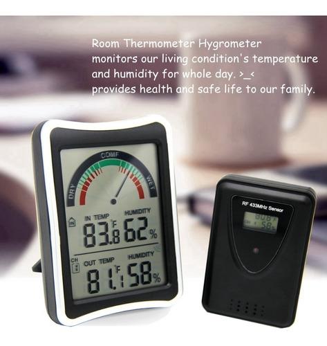 termometro memoria maxima minima umidade com sensor externo