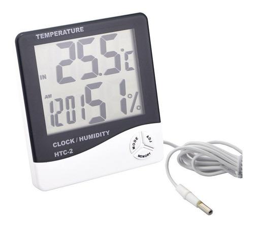 termómetro nevera higrómetro reloj  interior y exterior