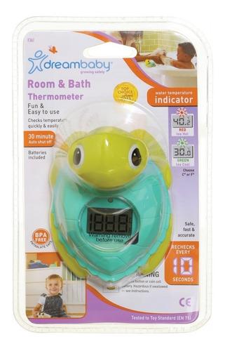 termómetro para baño y pieza tortuga dreambaby