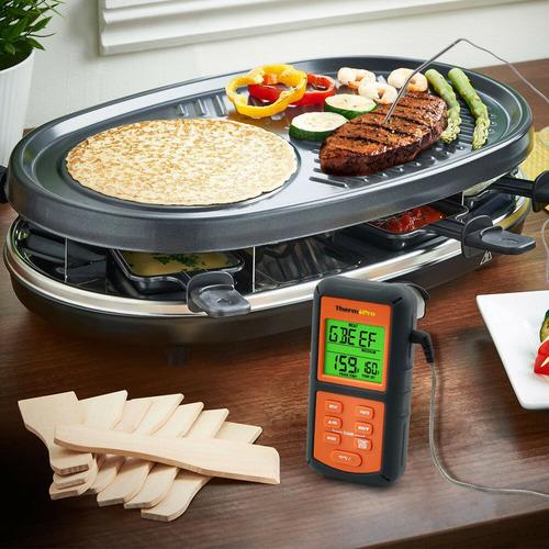 termómetro para carnes parrilla digital con sonda para