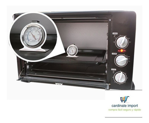 termómetro para horno acero inoxidable 300° al mayor y detal