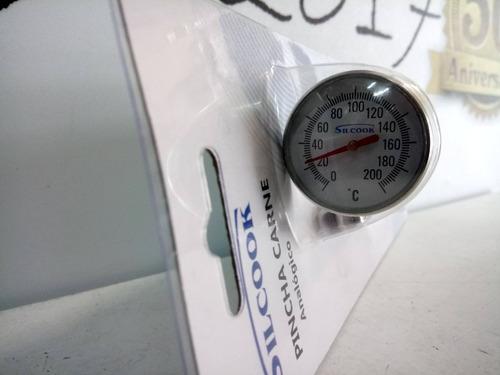 termómetro pincha carne analógico de acero inox 200 grados
