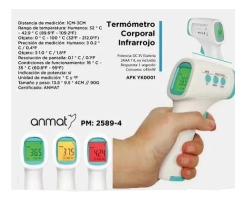 termómetro pistola infrarrojo digital con anmat envío gratis