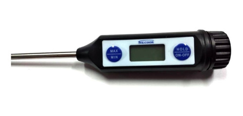 termometro silcook digital pinchacarne acero inox waterproof