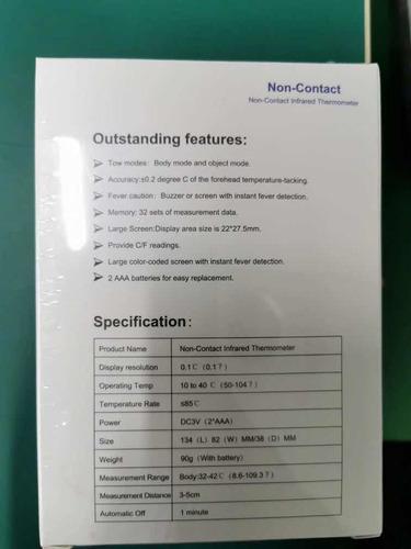 termómetros digital infrarrojo scanmed sin contacto