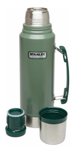 termos stanley color verde. de 1 litro. con tapón a rosca