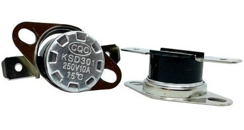 termostato 75 graus 75ºc 10a ksd301 normalmente fechado nc