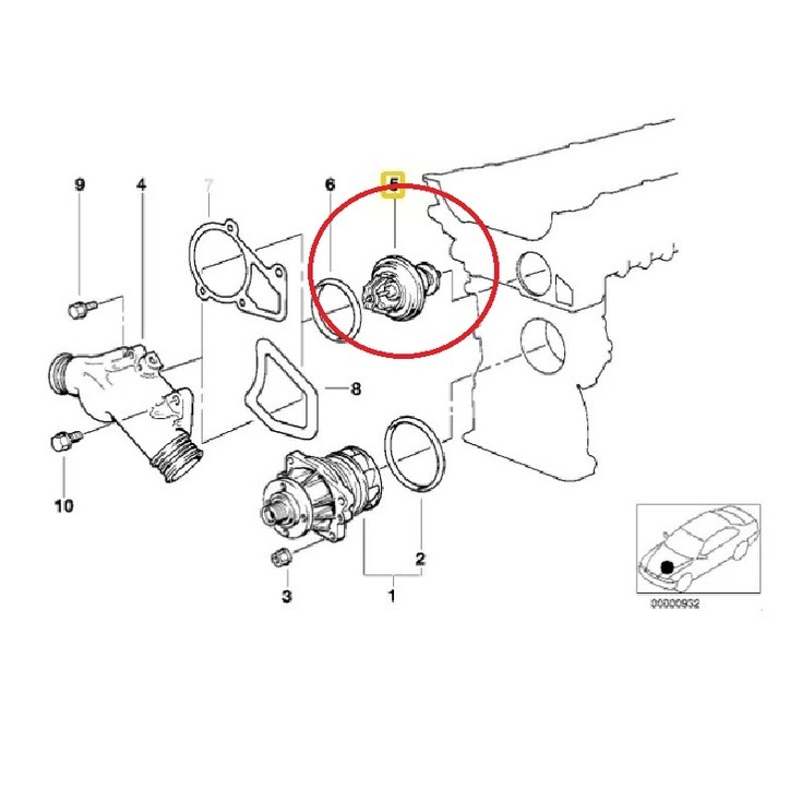 Termostáto 92º Graus Bmw E34 525i Manual 9296 R 31000 Em Rhprodutomercadolivrebr: 92 Bmw 525i Engine Diagram At Gmaili.net