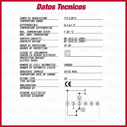 termostato analogico imit ta3 - el mejor -italia