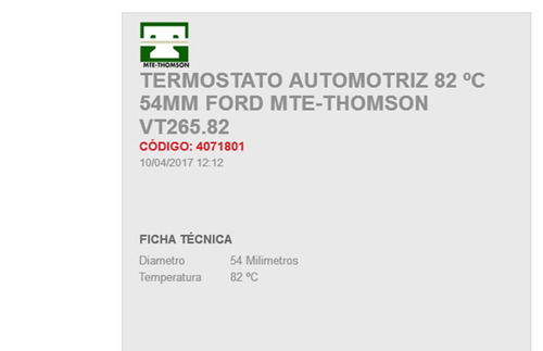 termostato  automotriz  ford  escape   6 cil   3.0 l   07-10