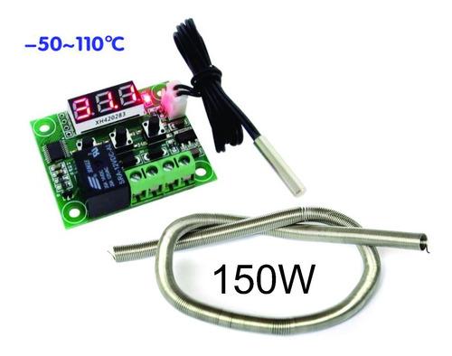 termostato chocadeira digital + resistencia 150w 110 ou 220v