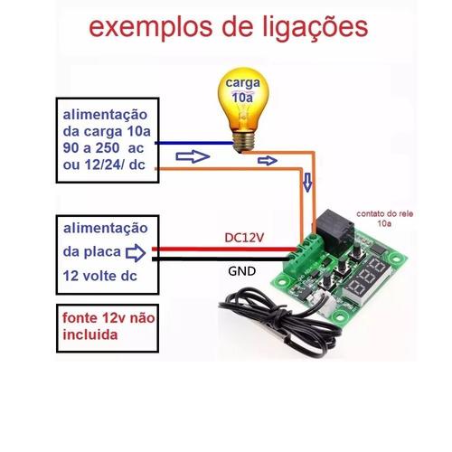 termostato / controle temperatura w1209 chocadeira com fonte
