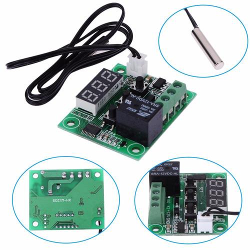 termostato digital 12v + sonda, ctrl de temp. incubadora
