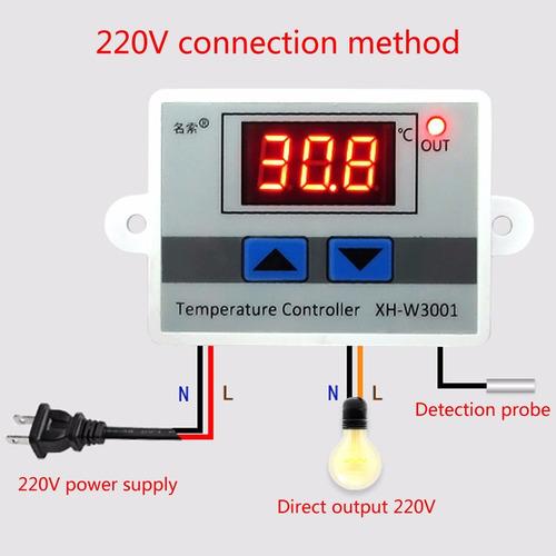 termostato digital control de temperatura incubadora