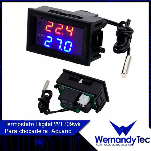 termostato digital para chocadeira w1209wk