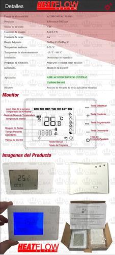 termostato digital táctil programable inalámbrico heat flow