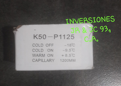 termostato nevera k50-p1125